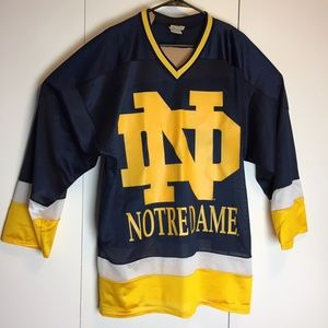 Vintage Notre Dame Name Game Hockey Jersey